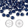 Bead, Swarovski crystal, Crystal Passions®, dark indigo, 6mm faceted round (5000). Sold per pkg of 12.
