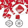 Bead, Swarovski crystal, Crystal Passions®, dark red coral, 8mm faceted bicone (5301). Sold per pkg of 12.