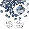 Bead, Swarovski crystal, Crystal Passions®, denim blue, 4mm Xilion bicone (5328). Sold per pkg of 144 (1 gross).