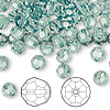 Bead, Swarovski crystal, Crystal Passions®, erinite, 6mm faceted round (5000). Sold per pkg of 144 (1 gross).