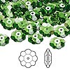 Bead, Swarovski crystal, Crystal Passions®, fern green, 10x3.5mm faceted marguerite lochrose flower (3700). Sold per pkg of 12.