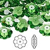 Bead, Swarovski crystal, Crystal Passions®, fern green, 14x5mm faceted marguerite lochrose flower (3700). Sold per pkg of 12.