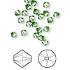 Bead, Swarovski crystal, Crystal Passions®, fern green, 4mm Xilion bicone (5328). Sold per pkg of 144 (1 gross).