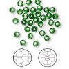 Bead, Swarovski crystal, Crystal Passions®, fern green, 4mm faceted round (5000). Sold per pkg of 144 (1 gross).