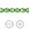 Bead, Swarovski crystal, Crystal Passions®, fern green, 8mm faceted round (5000). Sold per pkg of 12.