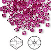 Bead, Swarovski crystal, Crystal Passions®, fuchsia, 4mm Xilion bicone (5328). Sold per pkg of 144 (1 gross).