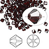 Bead, Swarovski crystal, Crystal Passions®, garnet satin, 4mm Xilion bicone (5328). Sold per pkg of 144 (1 gross).