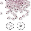 Bead, Swarovski crystal, Crystal Passions®, light amethyst, 4mm Xilion bicone (5328). Sold per pkg of 48.