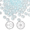 Bead, Swarovski crystal, Crystal Passions®, light azore, 4mm faceted round (5000). Sold per pkg of 144 (1 gross).