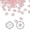 Bead, Swarovski crystal, Crystal Passions®, light rose, 4mm Xilion bicone (5328). Sold per pkg of 144 (1 gross).