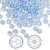Bead, Swarovski crystal, Crystal Passions®, light sapphire, 4mm faceted round (5000). Sold per pkg of 144 (1 gross).