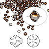 Bead, Swarovski crystal, Crystal Passions®, mocca, 3mm Xilion bicone (5328). Sold per pkg of 144 (1 gross).