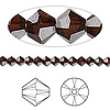 Bead, Swarovski crystal, Crystal Passions®, mocca, 4mm faceted bicone (5301). Sold per pkg of 48.
