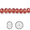 Bead, Swarovski crystal, Crystal Passions®, padparadscha, 8x6mm faceted rondelle (5040). Sold per pkg of 144 (1 gross).