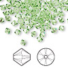 Bead, Swarovski crystal, Crystal Passions®, peridot, 4mm Xilion bicone (5328). Sold per pkg of 48.