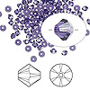 Bead, Swarovski crystal, Crystal Passions®, purple velvet, 3mm Xilion bicone (5328). Sold per pkg of 144 (1 gross).