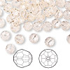 Bead, Swarovski crystal, Crystal Passions®, silk, 6mm faceted round (5000). Sold per pkg of 144 (1 gross).