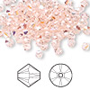 Bead, Swarovski crystal, Crystal Passions®, silk AB, 4mm faceted bicone (5301). Sold per pkg of 48.