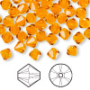 Bead, Swarovski crystal, Crystal Passions®, sun, 6mm faceted bicone (5301). Sold per pkg of 24.