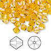 Bead, Swarovski crystal, Crystal Passions®, sunflower, 6mm Xilion bicone (5328). Sold per pkg of 144 (1 gross).