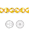 Bead, Swarovski crystal, Crystal Passions®, sunflower, 8mm faceted round (5000). Sold per pkg of 12.
