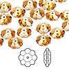 Bead, Swarovski crystal, Crystal Passions®, topaz, 10x3.5mm faceted marguerite lochrose flower (3700). Sold per pkg of 144 (1 gross).