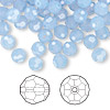 Bead, Swarovski crystal, air blue opal, 6mm faceted round (5000). Sold per pkg of 144 (1 gross).