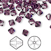 Bead, Swarovski crystal, amethyst, 6mm Xilion bicone (5328). Sold per pkg of 360.