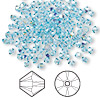 Bead, Swarovski crystal, aquamarine AB, 3mm Xilion bicone (5328). Sold per pkg of 1,440 (10 gross).