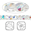 Bead, Swarovski crystal, crystal AB, 6x6mm faceted graphic cube (5603). Sold per pkg of 6.