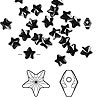 Bead, Swarovski crystal, jet, 8x8mm faceted star (5714). Sold per pkg of 288 (2 gross).