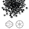 Bead, Swarovski crystal, jet hematite, 3mm Xilion bicone (5328). Sold per pkg of 1,440 (10 gross).