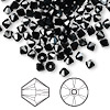 Bead, Swarovski crystal, jet hematite, 4mm Xilion bicone (5328). Sold per pkg of 1,440 (10 gross).