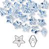 Bead, Swarovski crystal, light sapphire, 8x8mm faceted star (5714). Sold per pkg of 288 (2 gross).