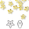 Bead, Swarovski crystal, light topaz, 8x8mm faceted star (5714). Sold per pkg of 288 (2 gross).