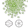 Bead, Swarovski crystal, peridot, 3mm Xilion bicone (5328). Sold per pkg of 1,440 (10 gross).