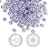 Bead, Swarovski crystal, purple velvet, 3mm faceted round (5000). Sold per pkg of 144 (1 gross).