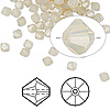 Bead, Swarovski crystal, sand opal, 4mm faceted bicone (5301). Sold per pkg of 1,440 (10 gross).