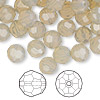 Bead, Swarovski crystal, sand opal, 8mm faceted round (5000). Sold per pkg of 144 (1 gross).