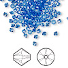 Bead, Swarovski crystal, sapphire, 3mm Xilion bicone (5328). Sold per pkg of 144 (1 gross).