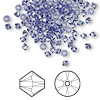 Bead, Swarovski crystal, tanzanite, 3mm Xilion bicone (5328). Sold per pkg of 144 (1 gross).