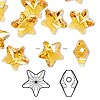 Bead, Swarovski crystal, topaz, 12x12mm faceted star (5714). Sold per pkg of 108.