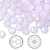Bead, Swarovski crystal, violet opal, 6mm faceted round (5000). Sold per pkg of 144 (1 gross).