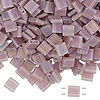 Bead, Tila®, glass, transparent matte rainbow light violet, (TL142FR), 5x5mm square with (2) 0.8mm holes. Sold per 40-gram pkg.