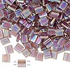 Bead, Tila®, glass, transparent rainbow light amethyst, (TL256), 5x5mm square with (2) 0.8mm holes. Sold per 40-gram pkg.