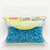 Bead, Westrim®, acrylic, transparent aqua blue, 5x5mm flower. Sold per pkg of 1.13 ounces, approximately 690 beads.