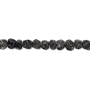 Bead, black tourmaline (natural), 4x2mm-5x4mm hand-cut faceted rondelle, D grade, Mohs hardness 7 to 7-1/2. Sold per 13-inch strand.