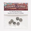 "Bead cap, Blue Moon Beads®, nickel-finished ""pewter"" (zinc-based alloy), 10x4mm spiral, fits 6-8mm bead. Sold per pkg of 6."