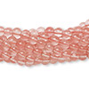 "Bead, cherry ""quartz"" glass, 4mm round. Sold per pkg of (10) 16-inch strands."