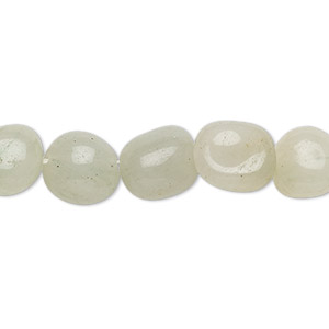 Bead, green aventurine (natural), light, mini to small hand-cut tumbled nugget, Mohs hardness 7. Sold per 16-inch strand.